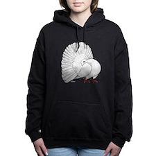 Fantail White Pigeon Women's Hooded Sweatshirt