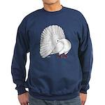 Fantail White Pigeon Sweatshirt (dark)