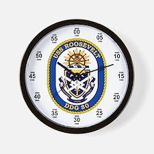 USS Roosevelt DDG-80 Wall Clock