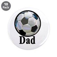 """Cute Soccer dad 3.5"""" Button (10 pack)"""
