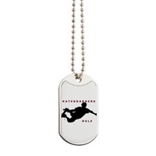 Cute Skateboarding Dog Tags