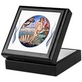 Birth of venus Square Keepsake Boxes