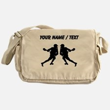 Custom Lacrosse Player Mirror Image Messenger Bag
