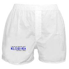 Military Men (blue) Boxer Shorts