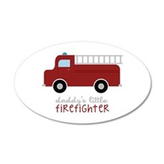 Daddys Little Firefighter Wall Decal
