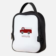 Daddys Little Firefighter Neoprene Lunch Bag