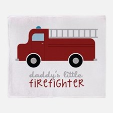Daddys Little Firefighter Throw Blanket