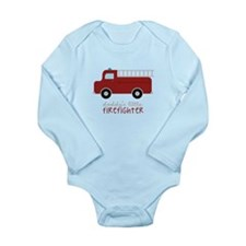 Daddys Little Firefighter Body Suit
