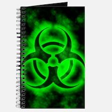 Green Biohazard Symbol Journal