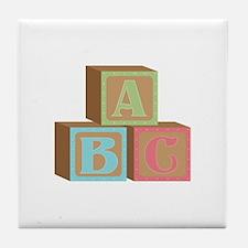 Baby Blocks Tile Coaster