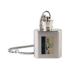 A Fish Rots From the Head Down Flask Necklace