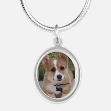 Corgi Silver Oval Necklace