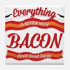 Cute Bacon meat candy Tile Coaster