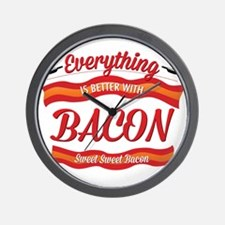 Cute Funny bacon Wall Clock