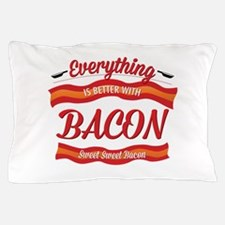 Cute Funny bacon Pillow Case