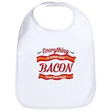 Cute Bacon sayings Bib