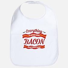Cute Bacon meat candy Bib