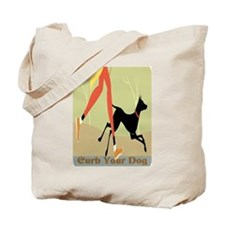 Curb Your Dog New Sign Tote Bag