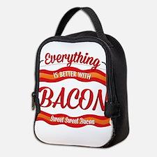 Cute Bacon Neoprene Lunch Bag