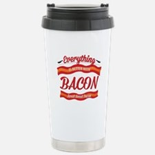 Cute Bacon is meat candy Travel Mug