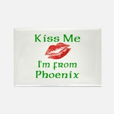 Kiss Me I'm from Phoenix Rectangle Magnet (10 pack