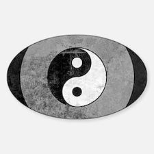 Distressed Yin Yang Symbol Decal