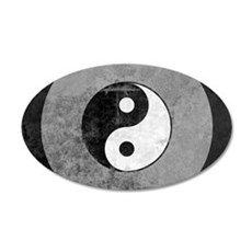 Distressed Yin Yang Symbol Wall Decal