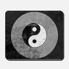 Distressed Yin Yang Symbol Mousepad