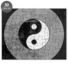 Distressed Yin Yang Symbol Puzzle