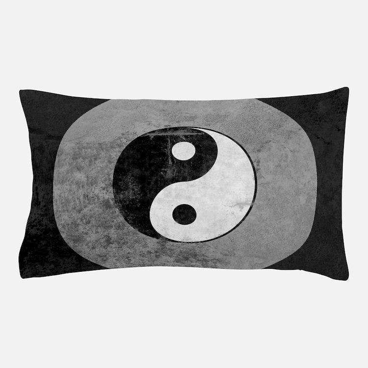 Distressed Yin Yang Symbol Pillow Case