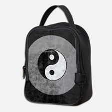 Distressed Yin Yang Symbol Neoprene Lunch Bag