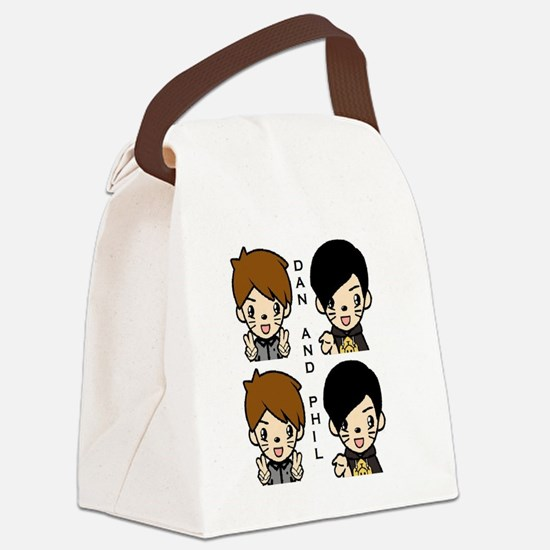 Dan and Phil Canvas Lunch Bag