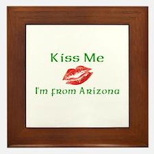 Kiss Me I'm from Arizona Framed Tile