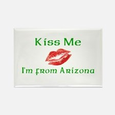 Kiss Me I'm from Arizona Rectangle Magnet (10 pack