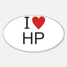 Cute I heart hp Sticker (Oval)