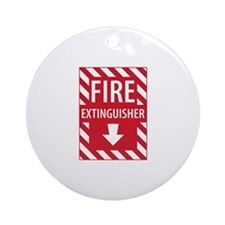 Fire Extinguisher Sign Ornament (Round)