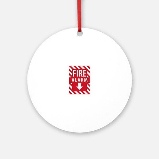 Fire Alarm Sign Ornament (Round)