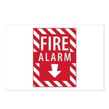 Fire Alarm Sign Postcards (Package of 8)