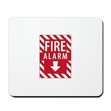 Fire Alarm Sign Mousepad