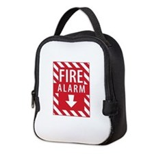 Fire Alarm Sign Neoprene Lunch Bag