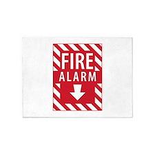 Fire Alarm Sign 5'x7'Area Rug