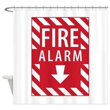Fire Alarm Sign Shower Curtain