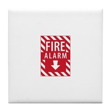 Fire Alarm Sign Tile Coaster