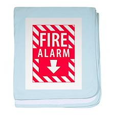 Fire Alarm Sign baby blanket
