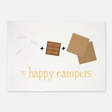 Happy Campers 5'x7'Area Rug