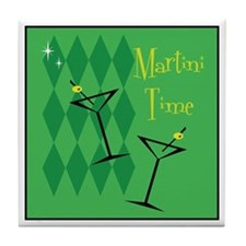 Green Retro Martini Tile Coaster