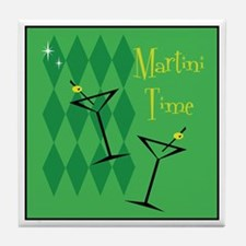 Green Retro Martini Tile Coaster