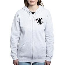 Whales Zip Hoodie