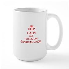 Keep Calm and focus on Guardian Angel Mugs