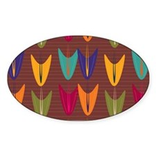 Decorative Abstract Tulip Floral Pattern Decal